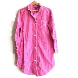 Lauren Ralph Lauren buttondown sleep shirt Large